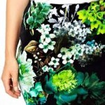 ASOS CURVE Pencil Skirt In Velvet Floral Xoom