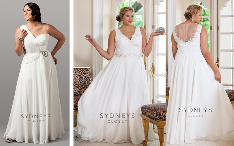 8 plus size wedding dresses under 500 for Best wedding dress styles for plus size brides