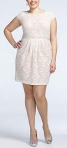 Cute Short Plus Size Wedding Dress