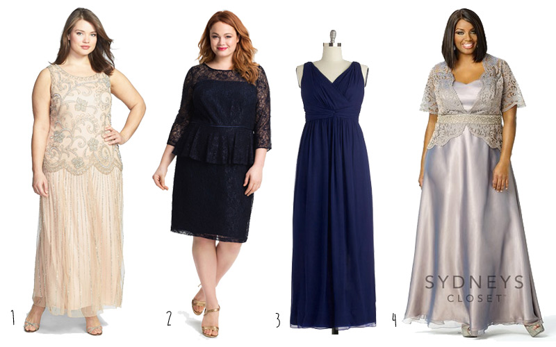 Plus Size Mother Of The Bride Dresses And