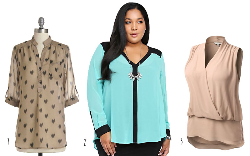 Cute-Plus-Size-Clothes-Chiffon-Blouse-Trend