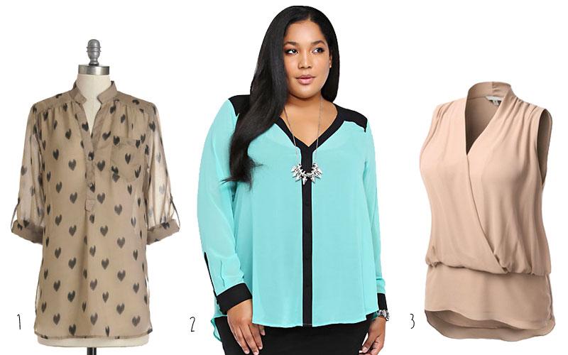 Cute-Plus-Size-Clothes-Chiffon-Blouse-Trend