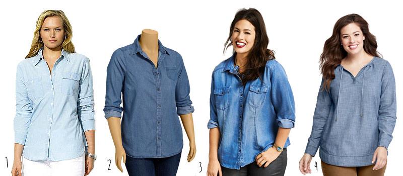 Plus-Size-Chambray-Shirts-
