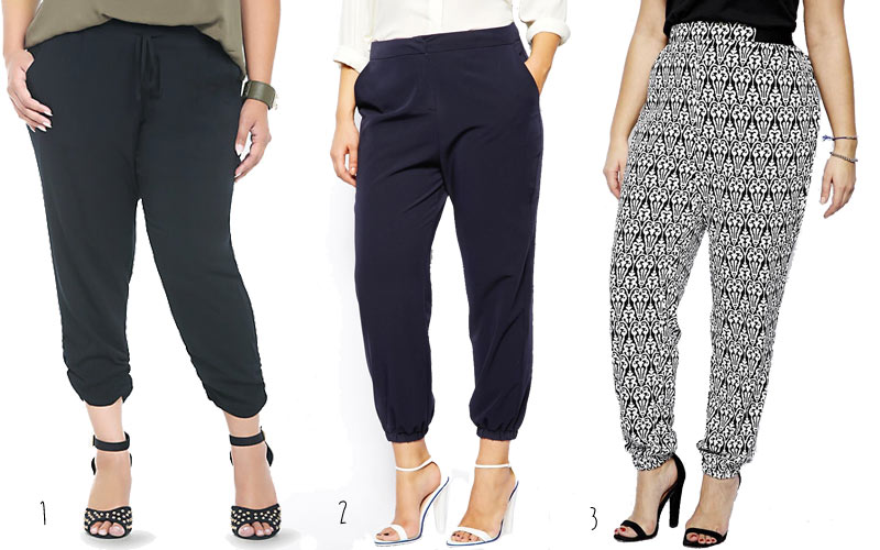 Plus size fashion 2014 the soft tapered pant for Tucked in shirt plus size