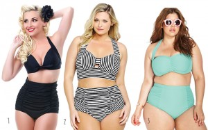 Plus Size Pin Up Bikinis and Bathing Suits