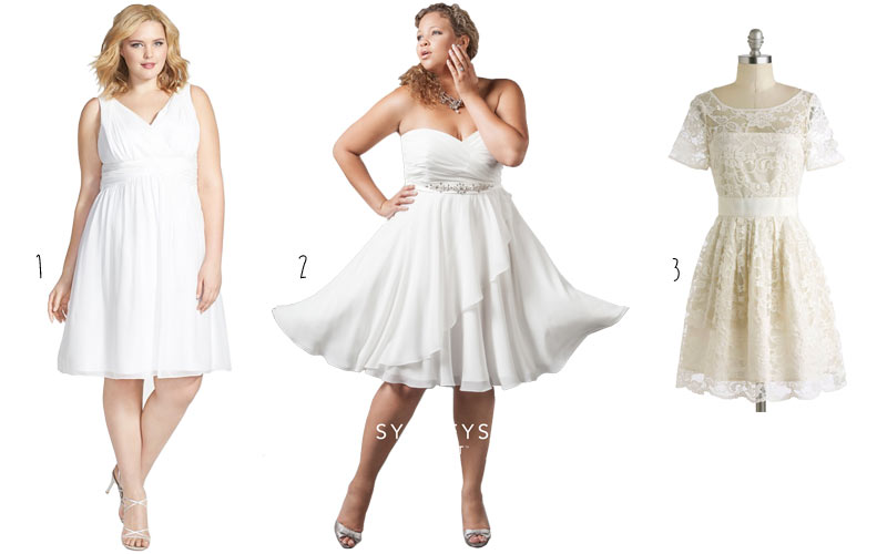 3 short plus size wedding dresses junglespirit Images