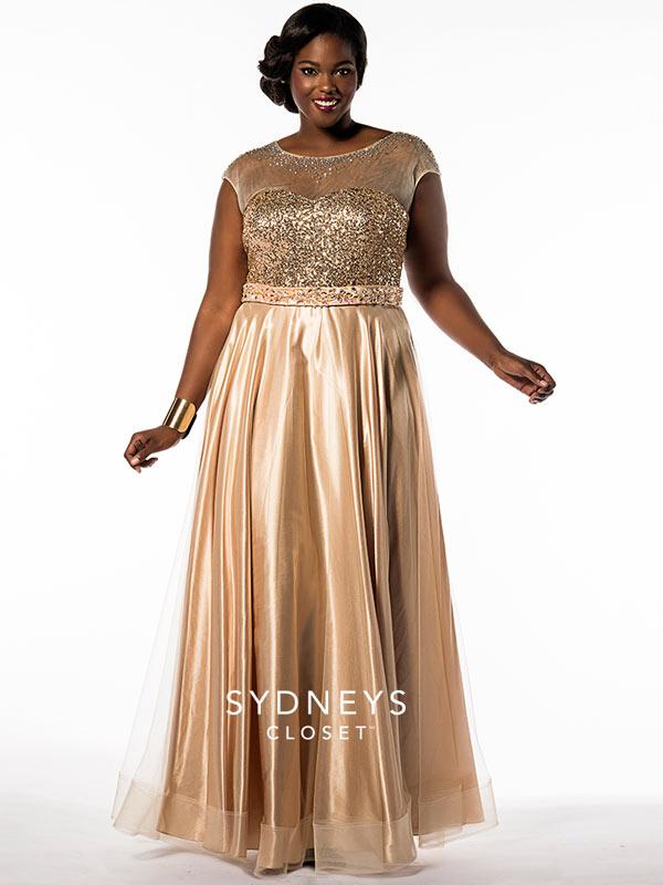 Gold-Prom-Dress-Plus-Size-Sydneys-Closet