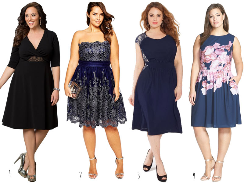 Plus-Size-Fit-and-Flare-Dresses-2015-