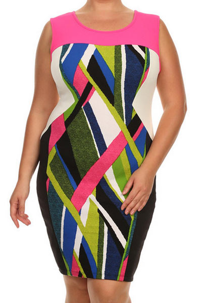 Bright-Plus-Size-Dress-Bodycon-Plus-Size-Fix-