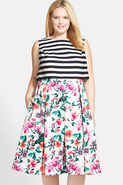 Plus-Size-Floral-Dress-