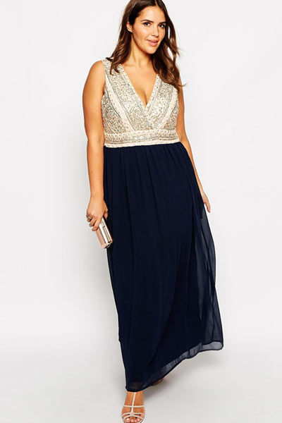 plus size mother of the bride dresses - hourglass figures