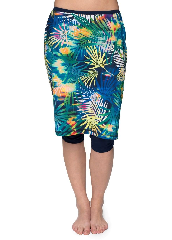 Plus Size Long Swim Skirt