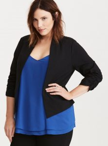 Slimming Clothes for Plus Size Apple Shapes: The Blazer
