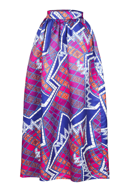 15f649242a6 Wear Anakara  Plus Size African Print Maxi Skirts