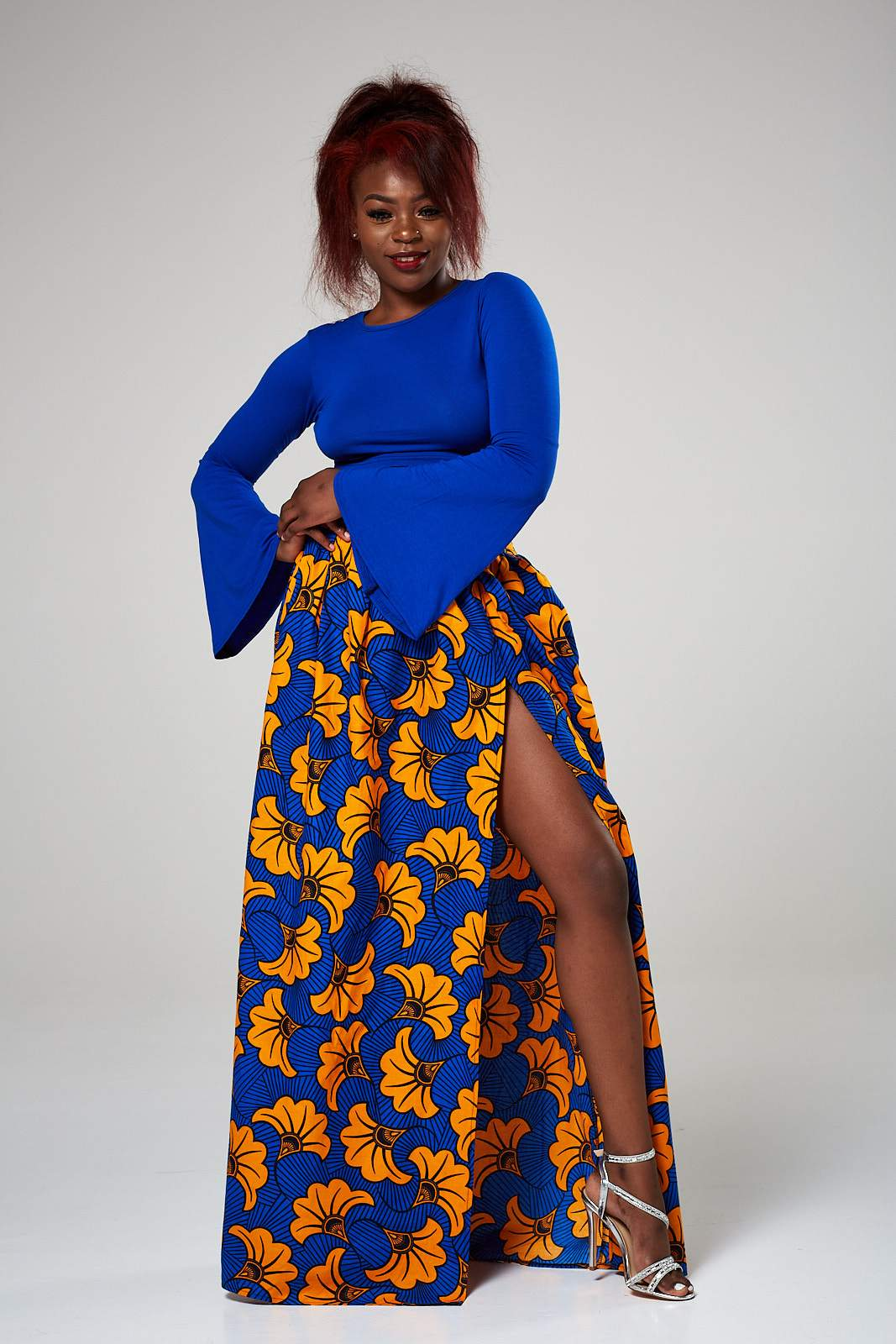 Wear Anakara Plus Size African Print Maxi Skirts