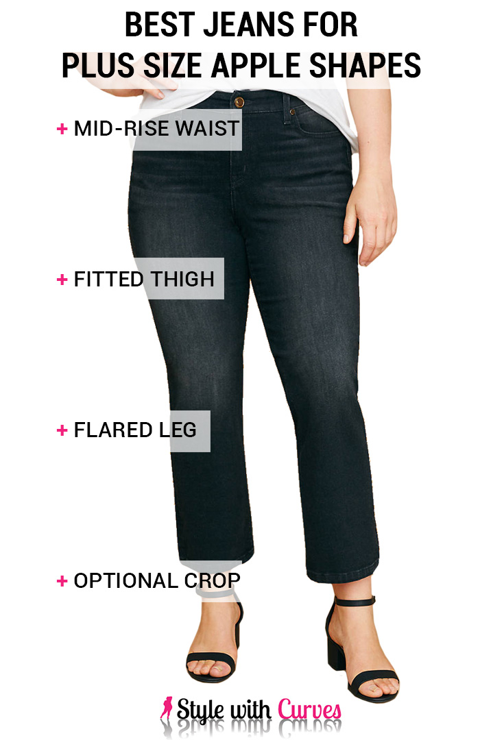 Best Jeans for Plus Size Apple Shapes 2018 | Style with Curves