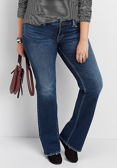 f57ae804c7cda Silver Jeans Suki Slim Boot Jean – This is a really flattering cut for plus  size apple shapes with some volume in the leg but not too much.